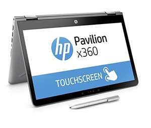 [Amazon] HP Pavilion x360 14-ba026ng (14 Zoll / FHD Touchscreen) Convertible Notebook (Intel Core i3-7100U, 8GB RAM, 256GB SSD, Intel HD-Grafikkarte 620, Windows 10 Home 64) silber