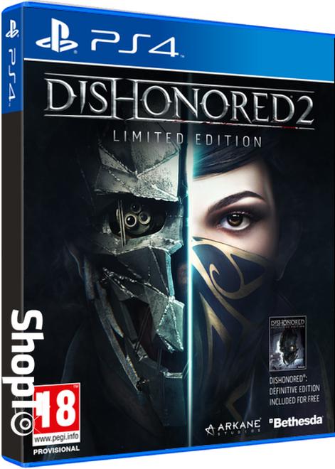 Dishonored 2: Das Vermächtnis der Maske Limited Edition (inkl. Dishonored Definitive Edition) (PS4) für 14,42€ (Shopto)