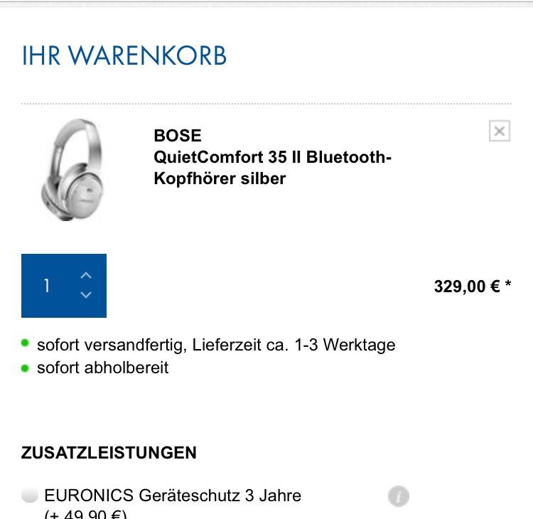 Bose QuietComfort 35 II Bluetooth-Kopfhörer silber