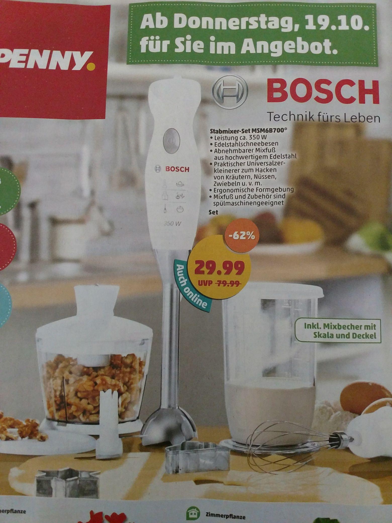 Bosch Stabmixer-Set MSM6B700 PENNY offline, online + 4,99 VSK ab 19.10.