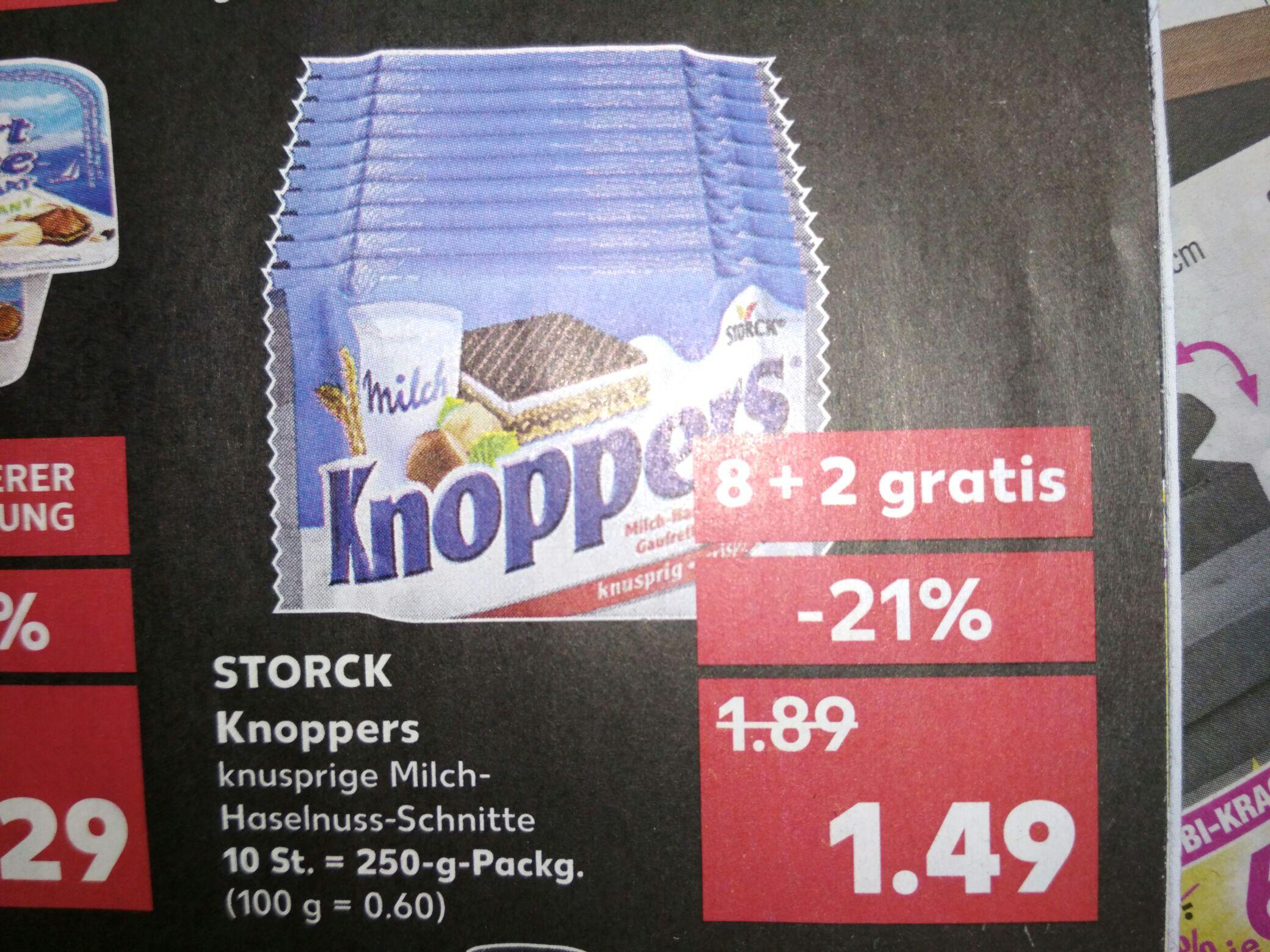 [Kaufland] Knoppers nur 1,49€ für 10 Stück