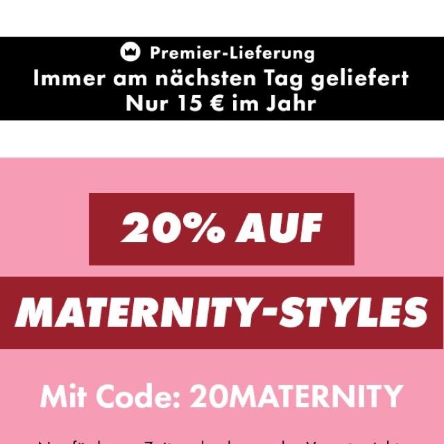 ASOS Maternity 20 Prozent Rabatt