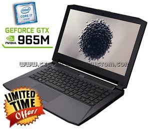 Clevo P640RF (14'' FHD IPS matt, i7-6820HK, 8GB RAM, 250GB SSD M.2, Geforce 965M, WLAN ac + Gb LAN, bel. Tastatur, ~2kg Gewicht) für 895€ [Ebay]