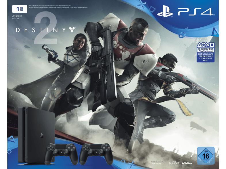 PlayStation 4 Slim 1TB + Destiny 2 + 2. DualShock 4 Controller für 299€ oder eBay Plus für 254,15€ (MediaMarkt)