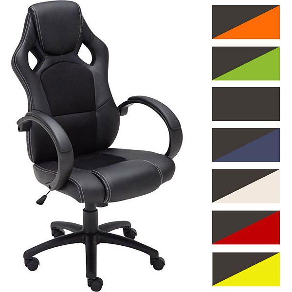 Gaming b ro stuhl fire in 6 farben mit armlehne sportsitz for Stuhl mit armlehne kunstleder