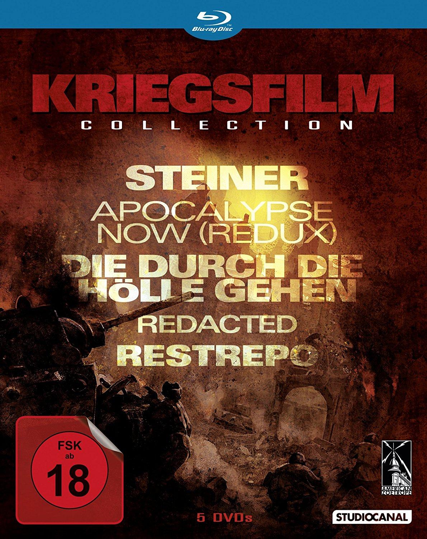 Kriegsfilme Collection (Apocalypse Now Redux, Die durch die Hölle gehen, Steiner, Restrepo, Redacted) (Blu-ray) für 10,93€ (Alphamovies)