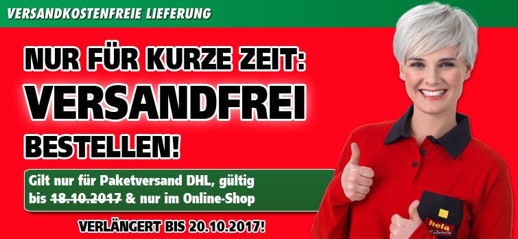 Versandkostenfreie Lieferung bei Hela Baumarkt