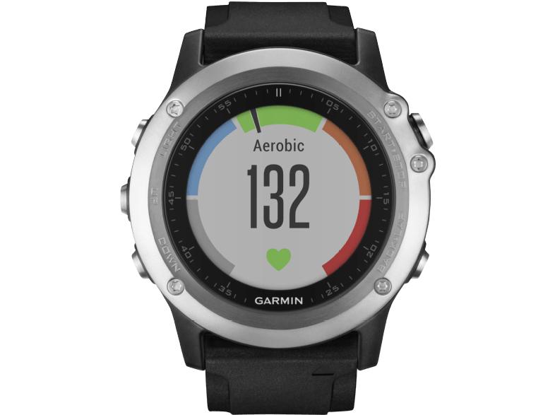 Garmin fēnix 3 HR (silber) - Multisportuhr mit optischem Herzfrequenzsensor, GPS, Barometer, Höhenmesser und Kompass
