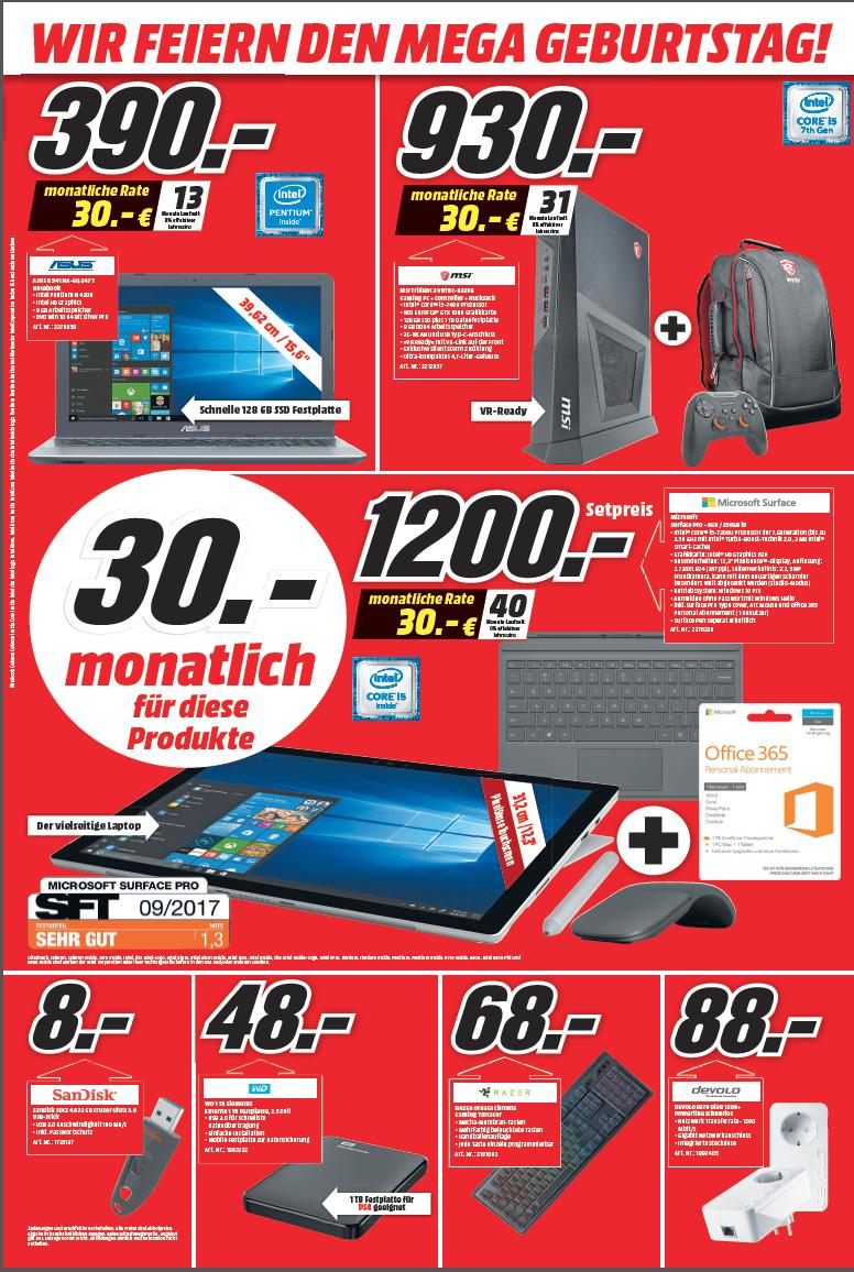 [ Lokal MM Frankfurt 1 und 2 ] Surface Pro 5  mit I5 & 256GB Speicher inkl. Tastatur & Arc Mous und Office 365 für 1200€
