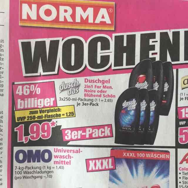 Norma - Dusch Das 3er Packung