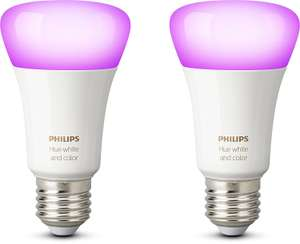 Philips Hue White and Color Ambiance LED-Lampe E27 Doppelpack [Amazon.es]