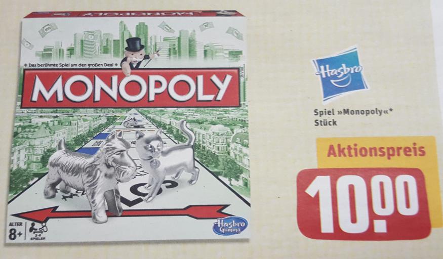 [REWE Center] Monopoly Classic Neuauflage 2013 für nur 10€ (23.-28.10.2017)