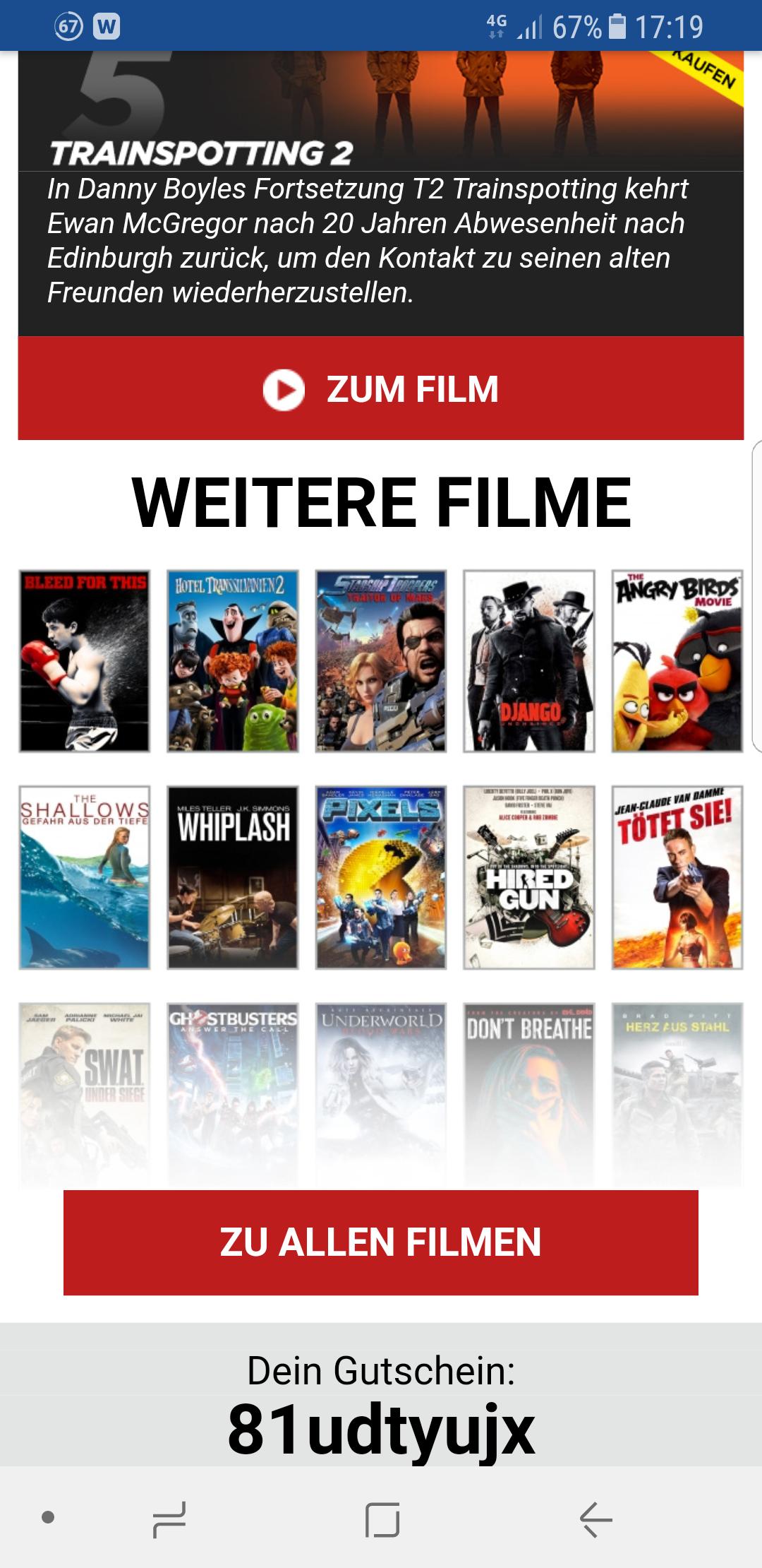 Rakuten TV 1€ Filme für die nächsten 48 Stunden zum Kauf