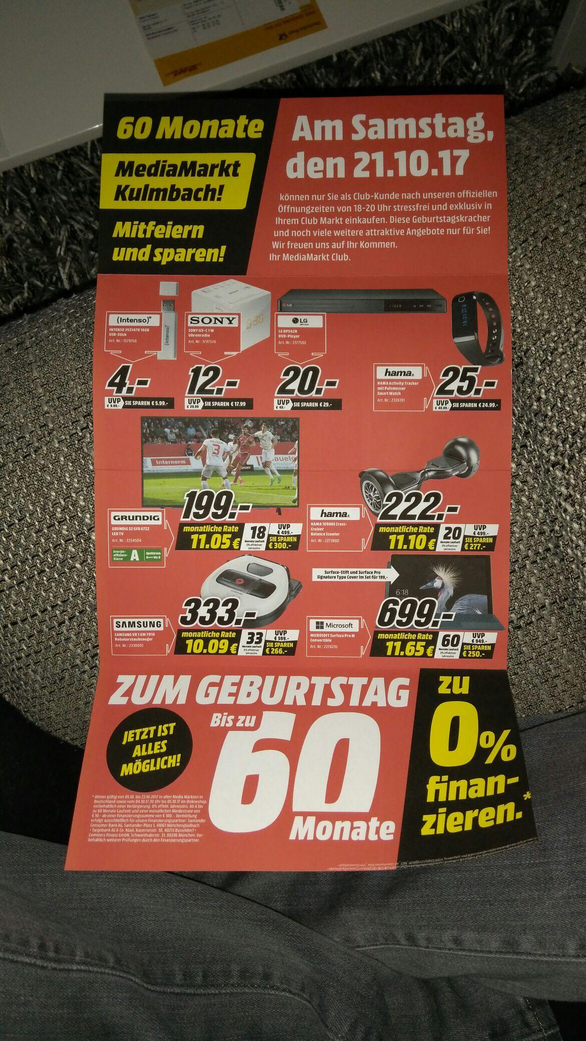 Mediamarkt Kulmbach Grundig 32 GBF 6722 oder Samsung ue49mu9009 für 849