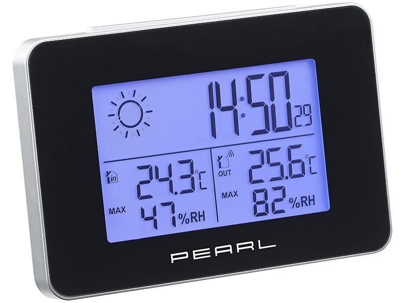 [Pearl] Wetterstation mit Thermometer und Hygrometer, 1 Jahr Batterie-Laufzeit