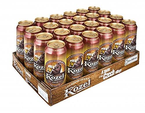 [amazon.de] Kozel Velkopopovicky Premium Bier aus Tschechien (24x 0,5l Tray Dosen) für 9,90€ inkl. Versand (kein Prime notwendig)