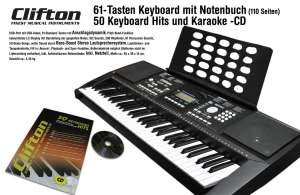 [Aldi Nord] [ab 30.11.2017] Clifton Keyboard LP 6210c für 89,99€