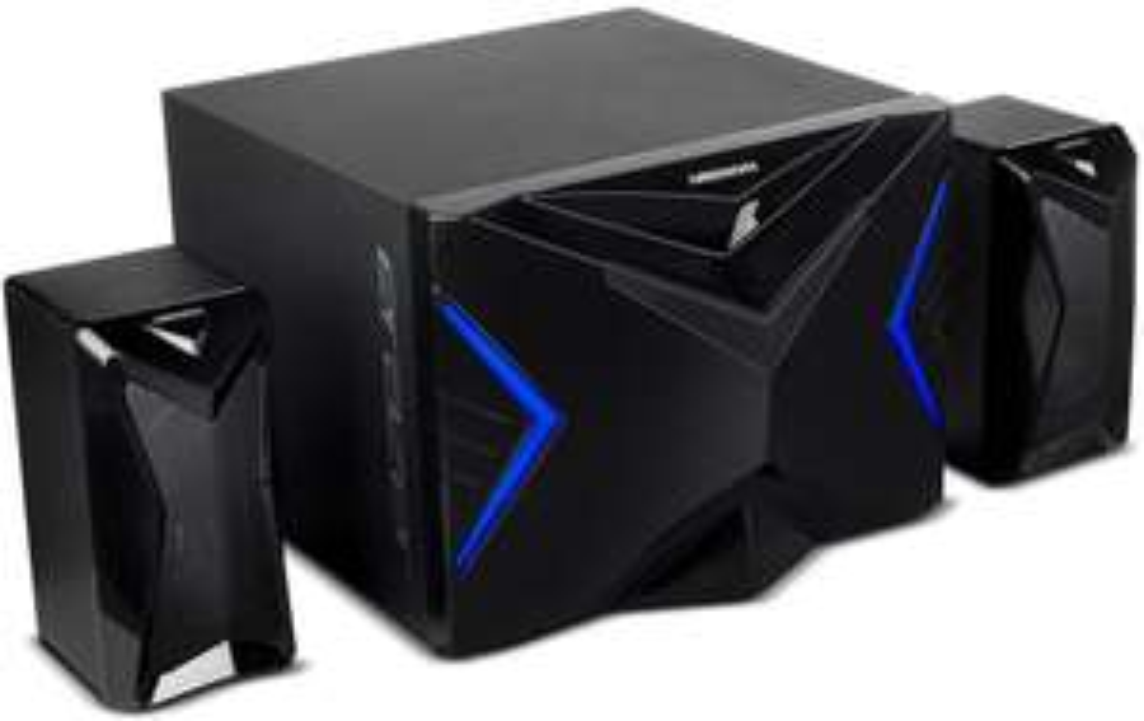 [Medion] MEDION® ERAZER® X89015 2.1 Gamer Sound System, 2 Lautsprecher (je 9 Watt RMS), Subwoofer mit integr. Verstärker (18 Watt RMS)
