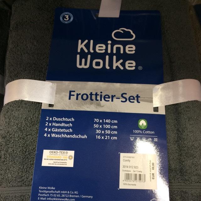 Kleine Wolke Frottier Handtuch Set 12 Teilig Globus Baumarkt ...
