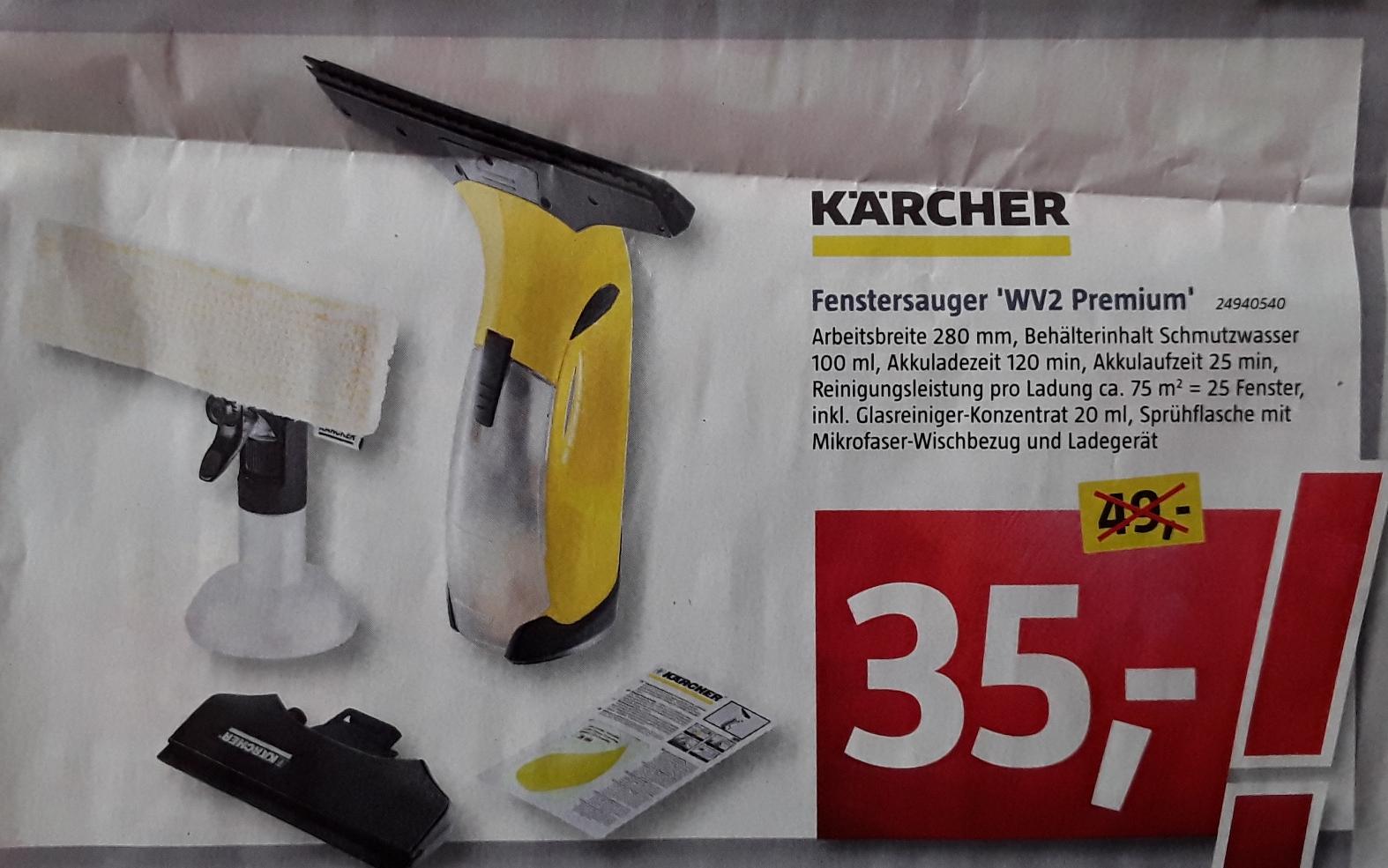 (Lokal Bauhausfilialen München)  Kärcher Fenstersauger WV2 Premium für 35 € / Ersatzschlüssel nachmachen 1€ / Stema PKW-Anhänger 299 €