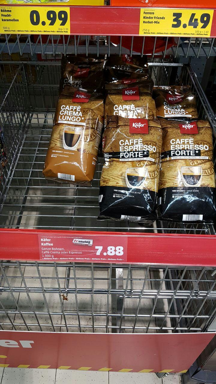 [Penny][Lokal Paderborn?] Käfer Kaffee ganze Bohnen 1kg verschiedene Sorten
