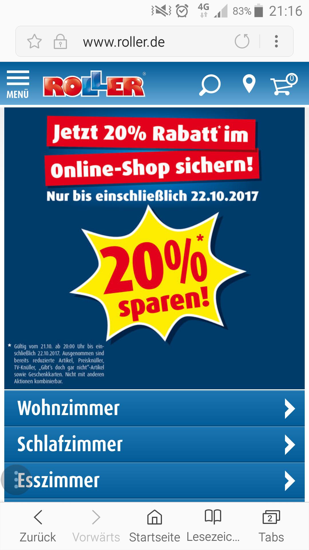 ROLLER 20% Rabatt -nur online-