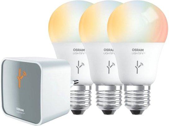 Osram Lightify (drei LED E27 dimmbar) Starter Kit mit WLAN-Gateway für 38,99€ bei [Amazon] [Lieferzeit 14-30 Nov]