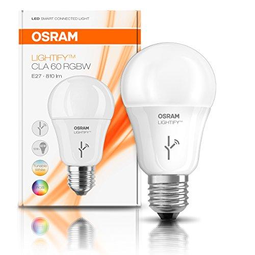amazon osram lightify e27 lampe farbwechsel philips hue alexa kompatibel. Black Bedroom Furniture Sets. Home Design Ideas