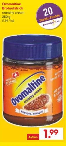 Ovomaltine Crunch (250g) ab 23.10. bei Netto MD