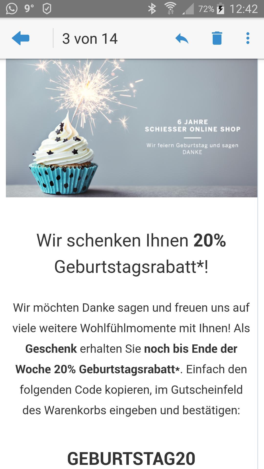 20 % bei Schiesser Online