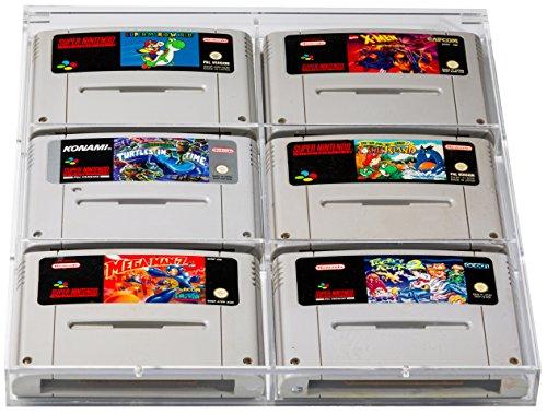 Schutzhülle aus Acryl für Spiele (Super Nintendo und N64) [Amazon]