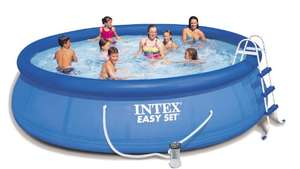 Intex Aufstellpool Easy Pool Set, TÜV/GS, blau, Ø 457 x 107 cm [Amazon.de]