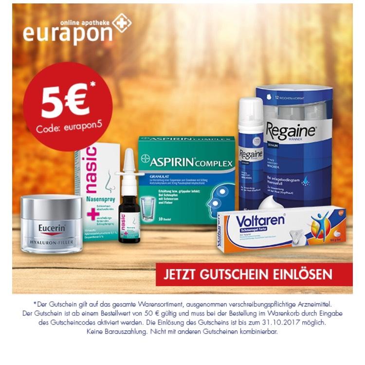 5€ bei Eurapon Apotheke