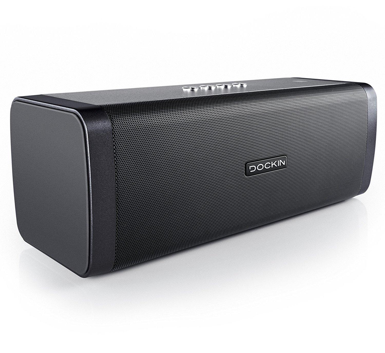 DOCKIN D FINE 50W Stereo Bluetooth Lautsprecher mit Powerbank, 10 Stunden Akku, bei Amazon