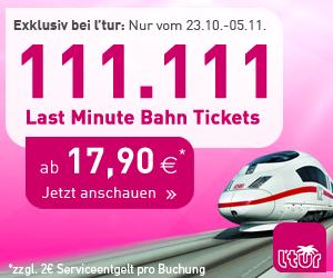 l'tur Bahn Tickets ab 17,90€ nur vom 23.10.-05.11.