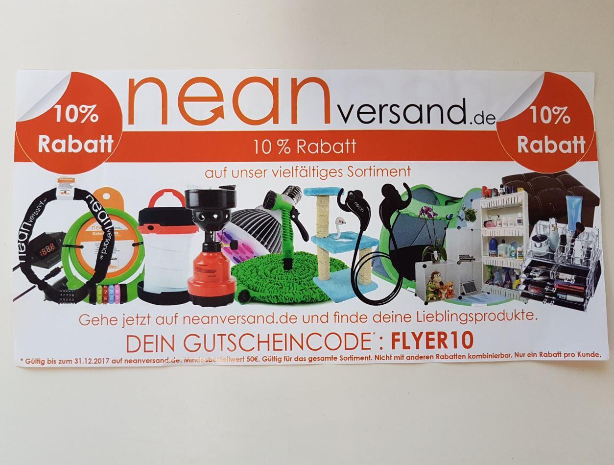 10% auf das gesamte Sortiment von neanversand.de ( ab 50€ Einkauf )