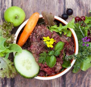 Hundefutter / BARF: 20kg hochwertiges Rind, Kaninchen und/oder Pansen nur 1,99€/kg mit Gemüsemix