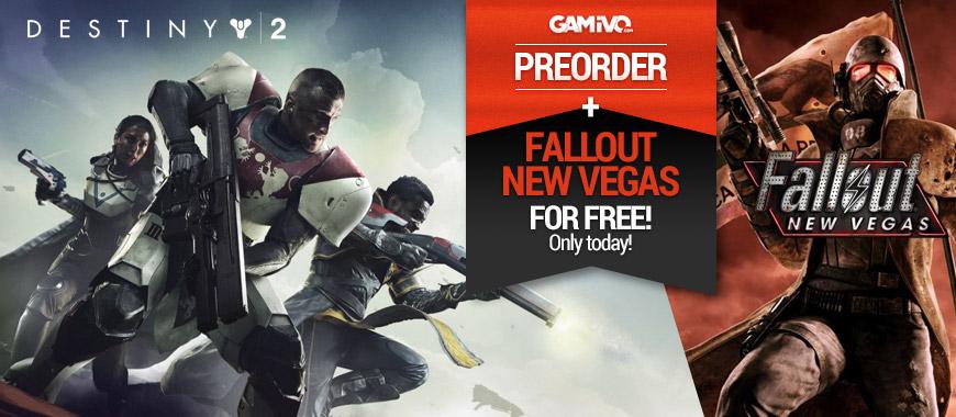 [GAMIVO.com] NUR HEUTE! Destiny 2 PC mit Fallout New Vegas FREI für 47,89€!