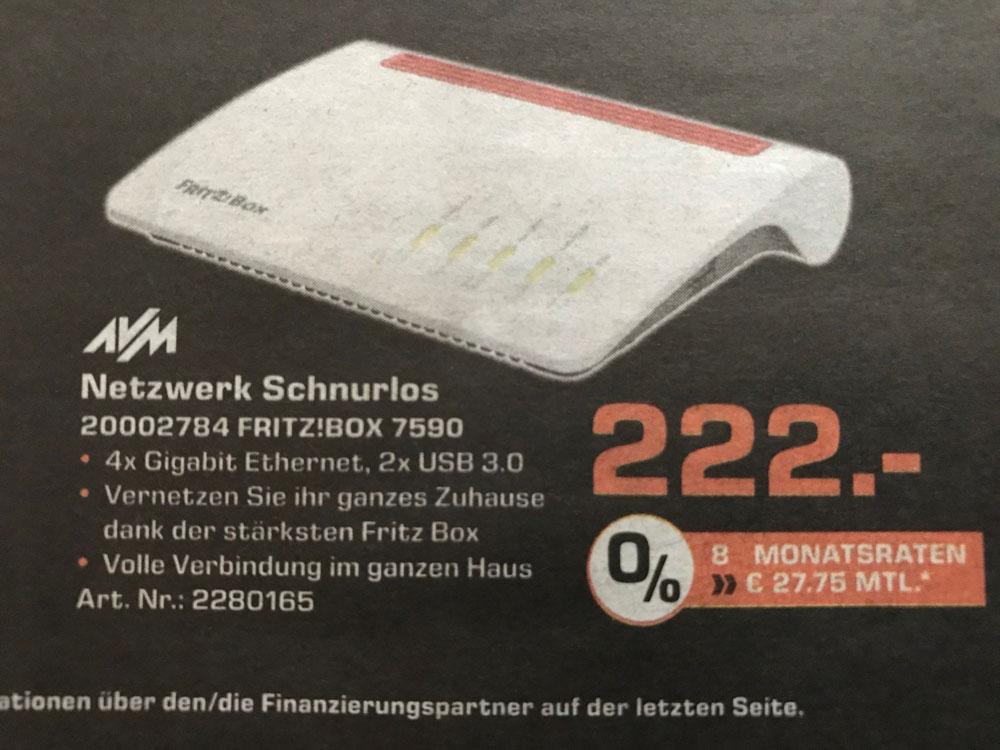 [Lokal Saturn Aachen] Fritzbox 7590
