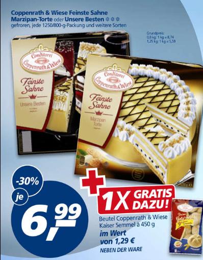 [Real] Coppenrath & Wiese Torte für 6,99€ + Gratis: Kaisersemmeln