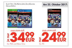 (LOKAL) In Essen Gamestop South Park Deluxe Edition für PS4/ XBOX (34,99) PC (24,99)