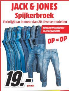 [Mediamarkt Niederlande-Grenzgänger] Mehr als 20 Verschiedene Modelle Jack&Jones Herrenjeans für je 19,-€