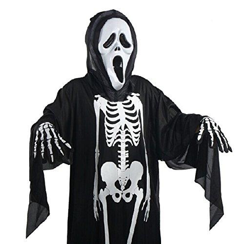 Halloween Kostüm Screaming Ghost Maske für Erwachsene