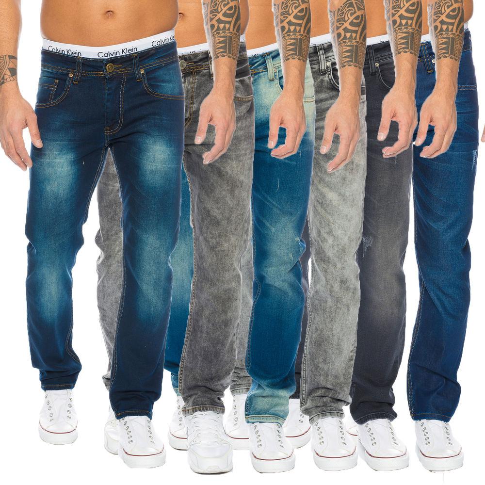 (Lorenzo Loren) Herren Jeans Rock Creek