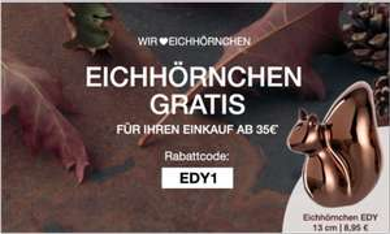 Kostenloses Deko-Eichhörnchen (Leonardo) ab MBW 35€