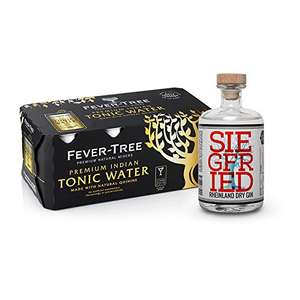 Siegfried Dry Gin + 8x Fever-Tree Indian Tonic Water Dosen bei Amazon