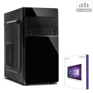 PC mit AMD A8 9600, 16GB DDR4-RAM, 240GB SSD, DVD-Brenner und Windows 10