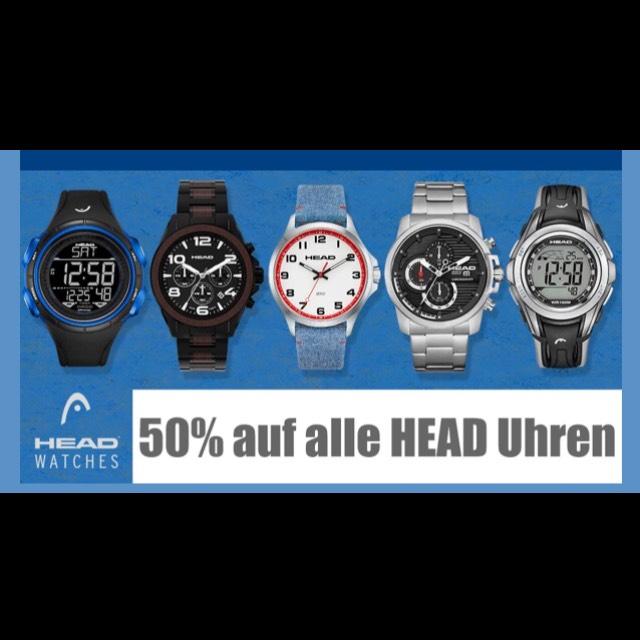 50 % auf ausgewählte Head-Uhren