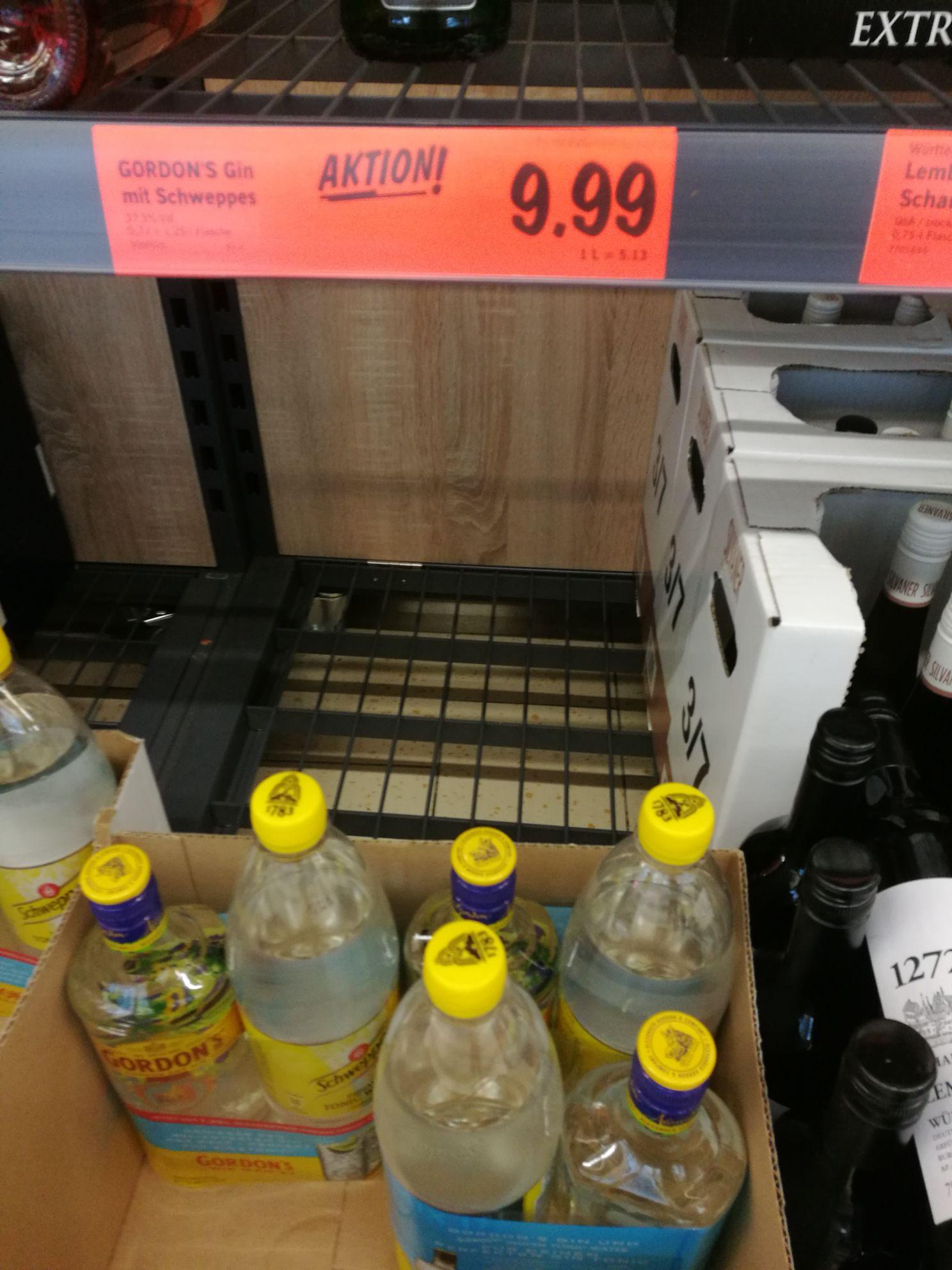 Gordon's London Dry Gin mit Schweppes Tonic bei Lidl für 9,99€