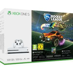 Xbox One S 500GB + Rocket League + Destiny 2 + Dishonored 2 + Doom + Fallout 4 + Fallout 3 + 3 Monate Xbox Live für 258,75€ (Shopto)